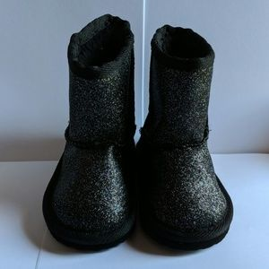 Other - Black Glitter Booties toddler size 4